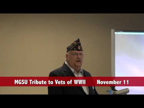 MGSU Tribute to WWII Vets November 11, 2015