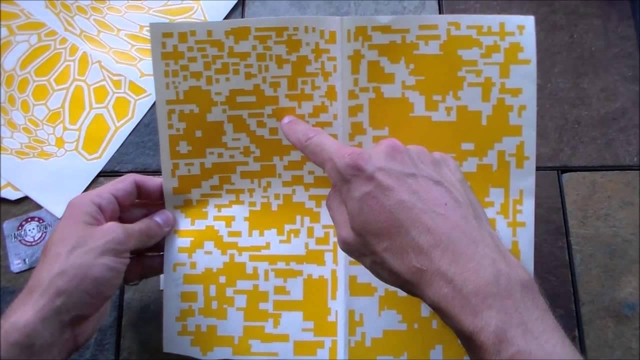 vinyl camo stencils for duracoat cerakote krylon stippling youtube
