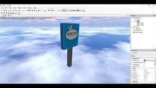 Wie man einen rotierenden Shop-Zeichen Finobe/Roblox 2008 Client