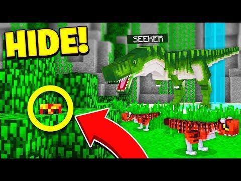 WORLDS BEST HIDER?... | JURASSIC WORLD HIDE & SEEK! - Minecraft Mods