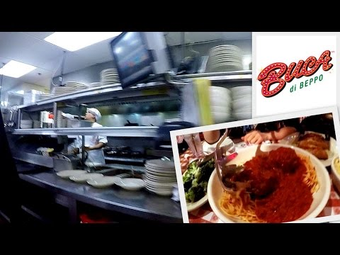 Buca di Beppo Italian | GoPro Hero 4 Restaurant Kitchen Tour - Honolulu, HI