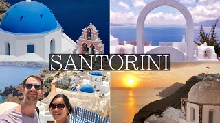4 Beautiful Days in SANTORINI Vlog - Thira, Oia, Blue Domes, Sunsets, Volcano Tour, Greece