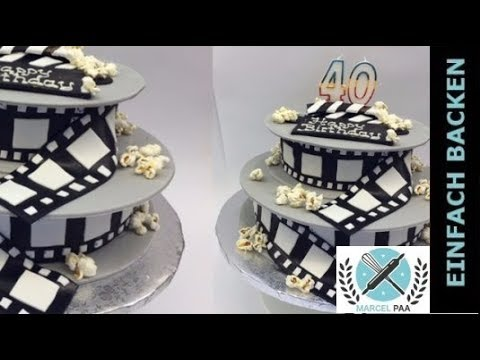 film motiv torte 3d torte fondant torte selber. Black Bedroom Furniture Sets. Home Design Ideas