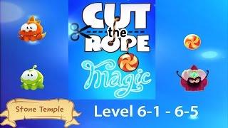 Cut the Rope Magic Stone Temple (Steintempel) Level 6-1 - 6-5 3 stars walkthrough [HD]