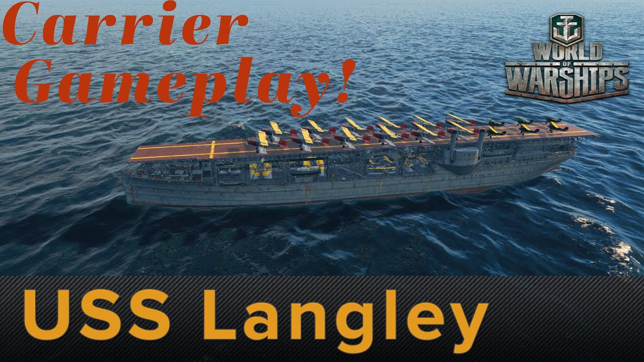 World of Warships: USS Langley- Aircraft Carrier Gameplay