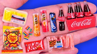 13 DIY Miniature Food Drink & Sweet Hacks and Crafts~Cocacola Bottle~ Chupachups~