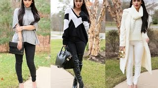 3 Winter Outfits! Sweater Weather! Thumbnail