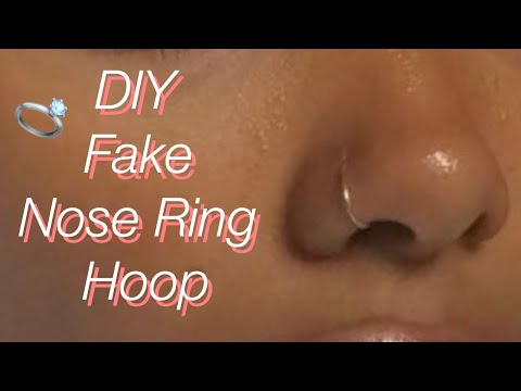 Fake Nose Piercing : All information about -  Risks & Painful  & Healing Aftercare Body Piercing Piercing