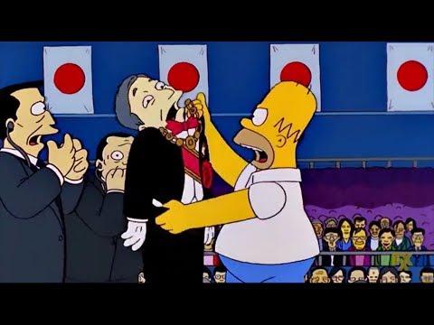 Homer kills Japan's Emperor