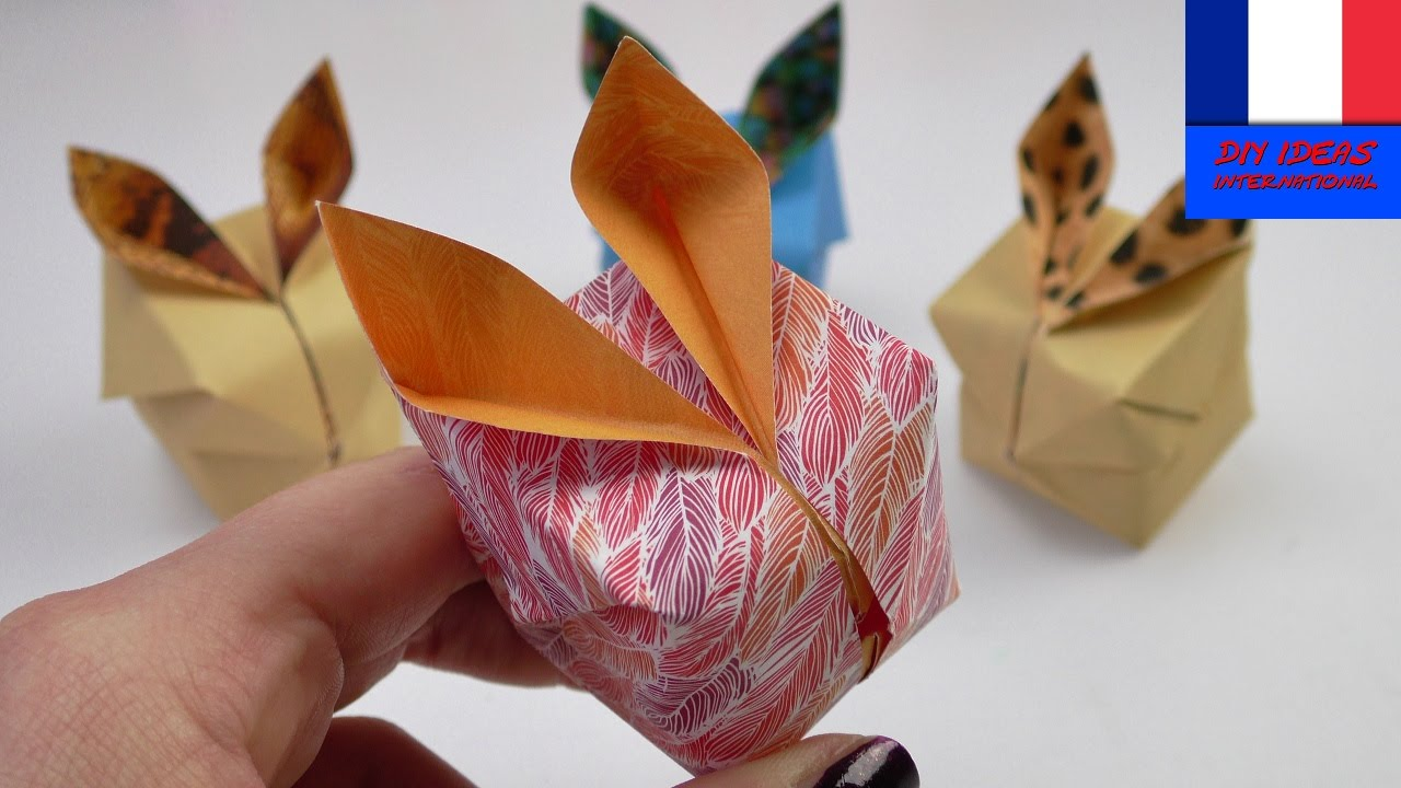 tuto origami 3d lapin