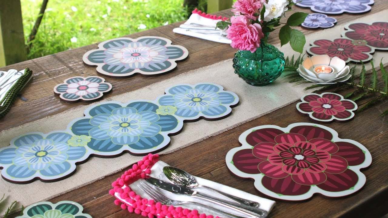 Succulent Design Collection | Placemats, Coasters & Centrepiece Table Mats
