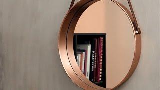 Tutorial: faça um espelho moderninho usando fôrma de bolo e cinto de couro