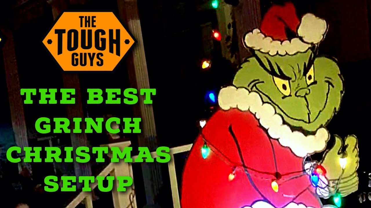 The Best Grinch Christmas Light Setup Diy Youtube