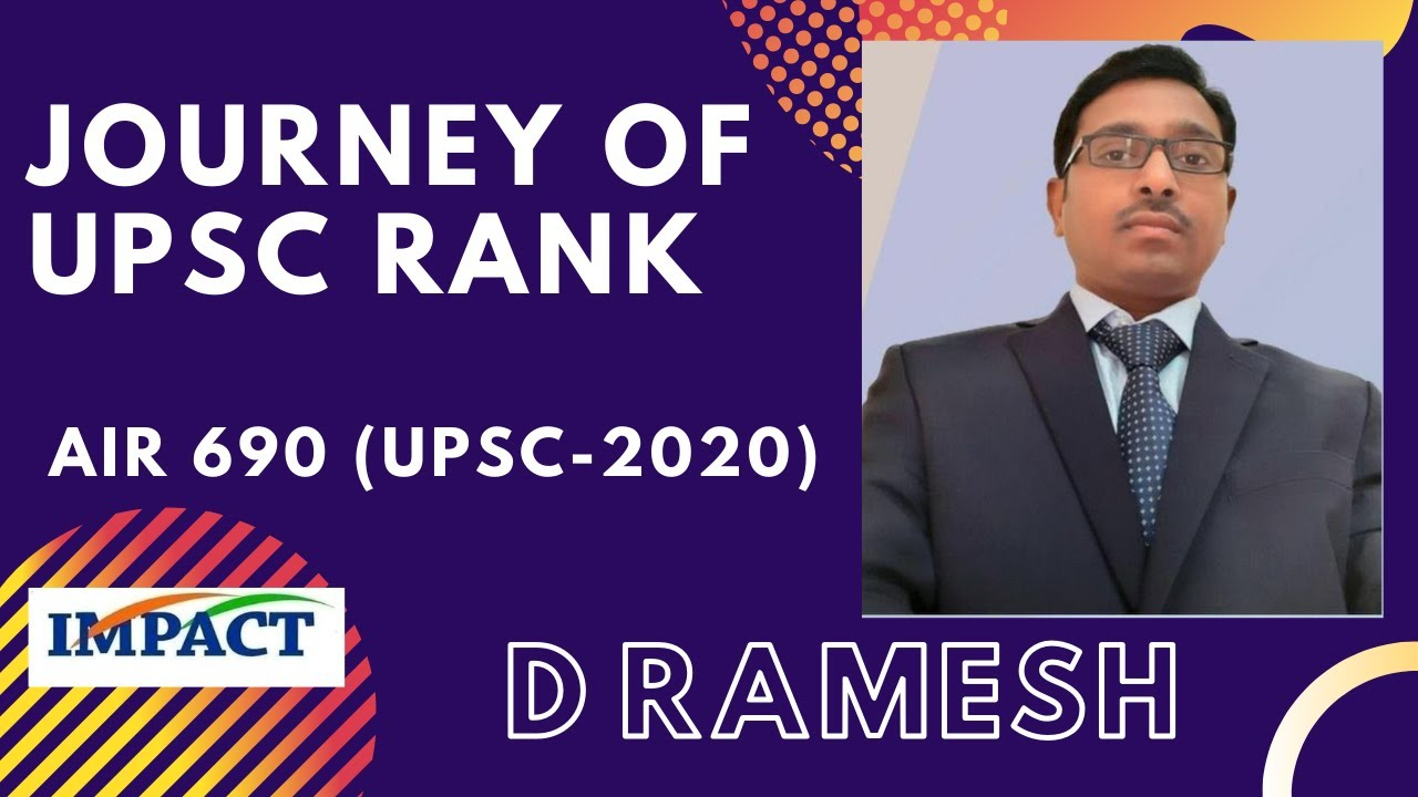 Journey of UPSC Ranker  D Ramesh AIR- 690 (2020) || Youth Interaction  || AKS IAS  || IMPACT || 2020