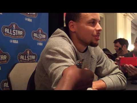 STEPHEN CURRY, NBA All-Star Friday Media...