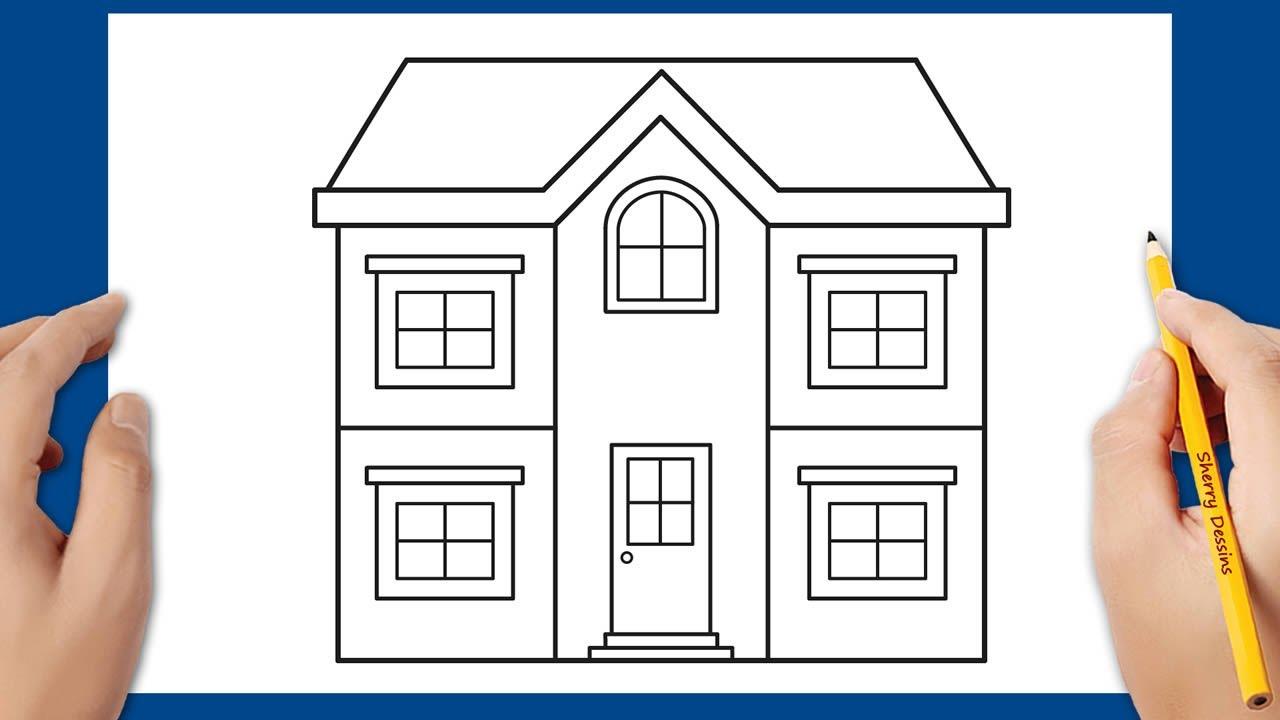 Comment Dessiner Une Maison Facile Maison Dessin Dessin Dessin Simple