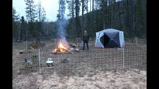 Spring Camping With Electric Fence In Grizzly Bear Territory