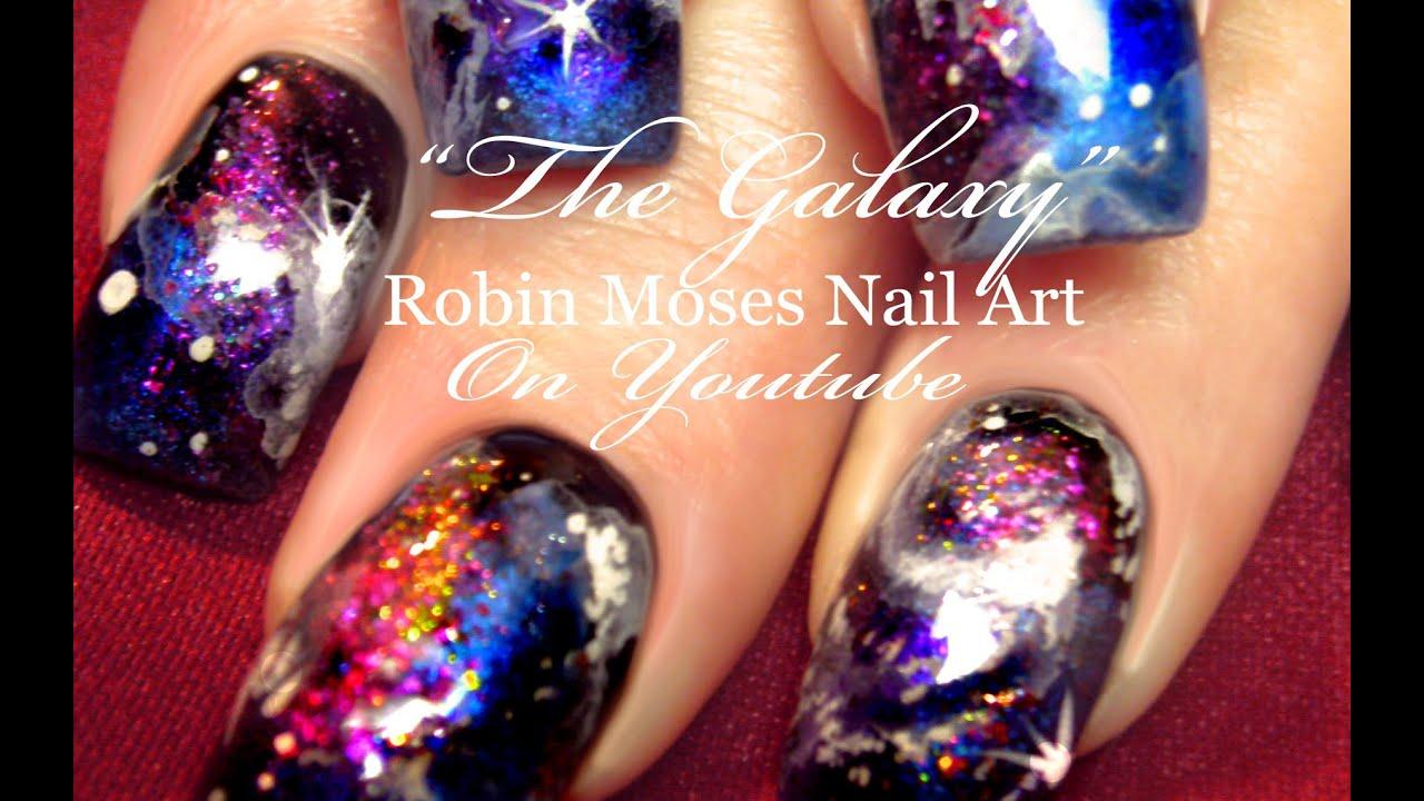 Galaxy Nails Design Tutorial - YouTube