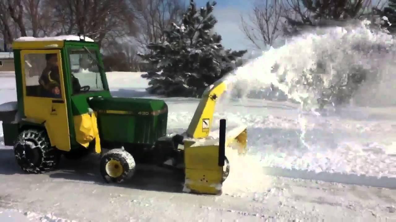 John Deere 430 Snowblowing Youtube