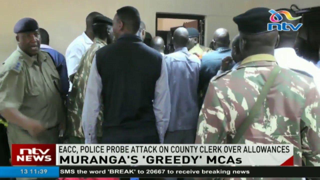 EACC, police probe Murang'a MCAs' attack on county clerk over allowances