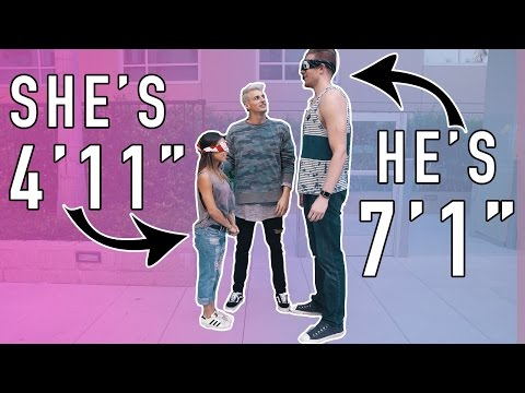 Thumbnail: BLIND DATE! 7 FOOT TALL GUY MEETS 4 FOOT TALL GIRL!