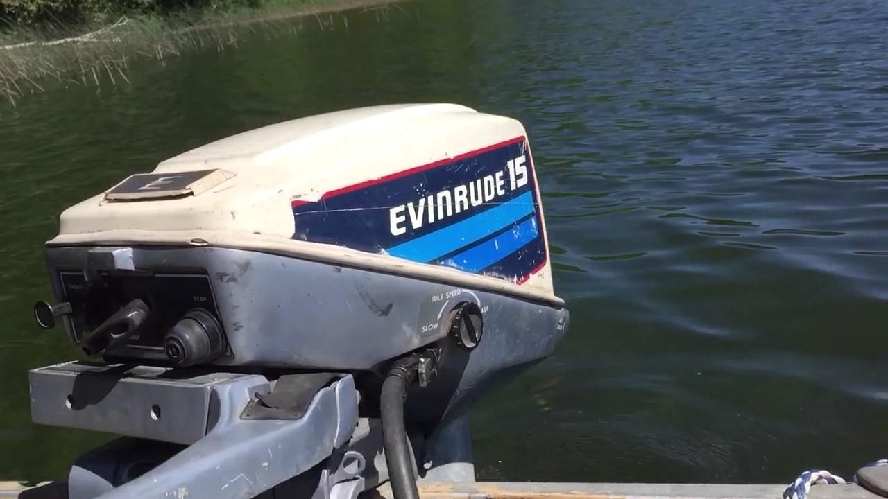 Evinrude 15 Hp >> 1982 Evinrude 15hp Outboard Motor Youtube