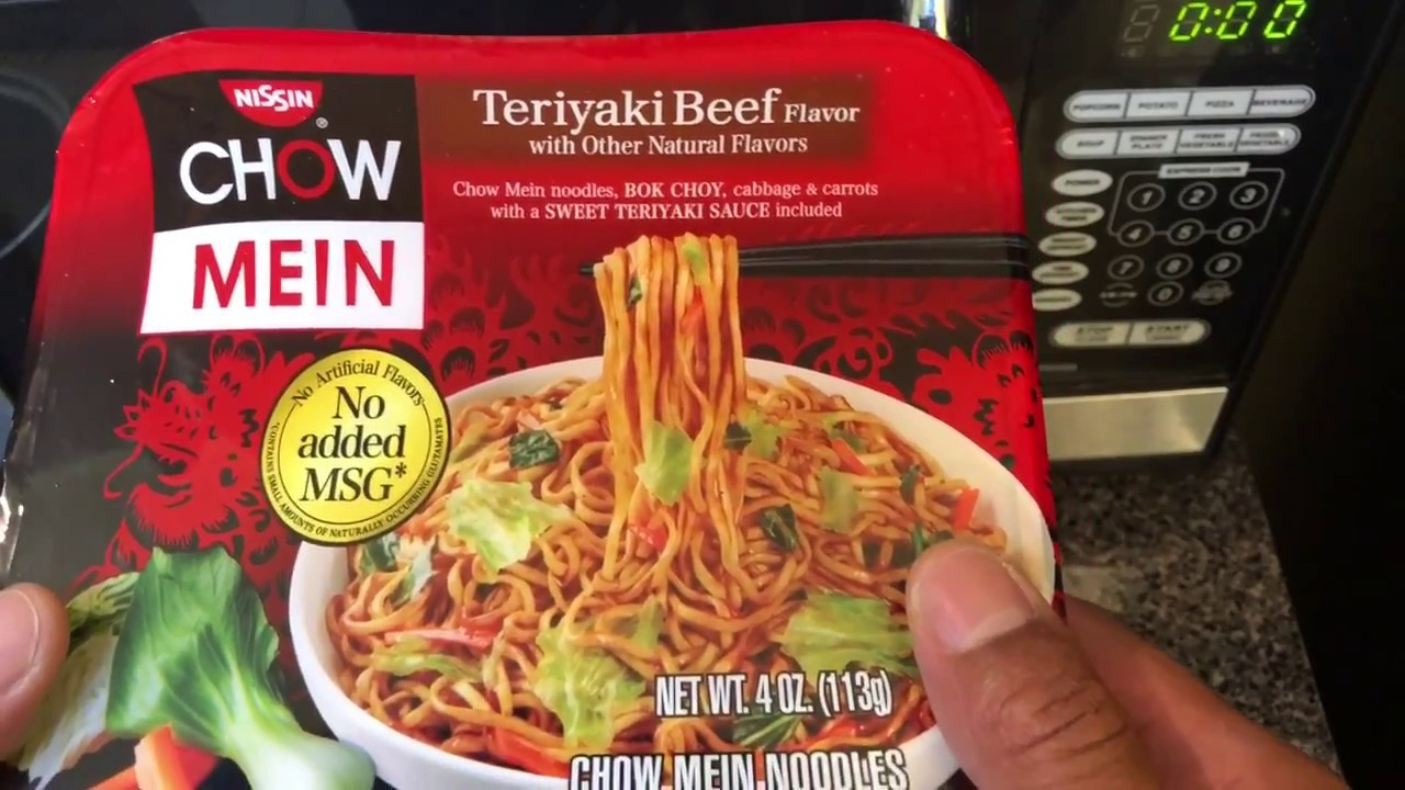How To Make Chow Mein Ramen Noodles And Teriyaki Beef Flavored Youtube