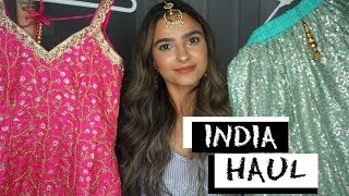 WHAT I GOT FROM INDIA| HUGE INDIA HAUL| JEWELLRY, CLOTHES & MORE Preet Aujla