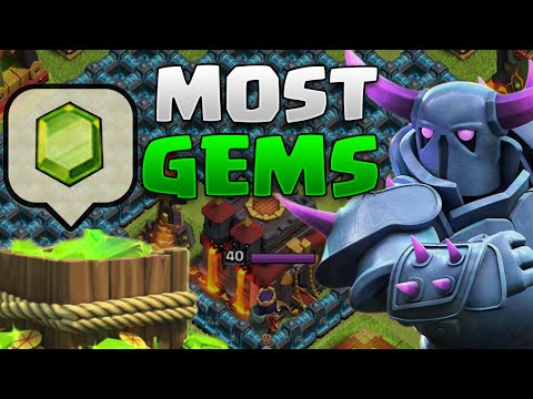 Biggest GEMMER In Clash Of Clans! - $10,000+ Worth Of Gems Used! - FULLY MAXED BASE!