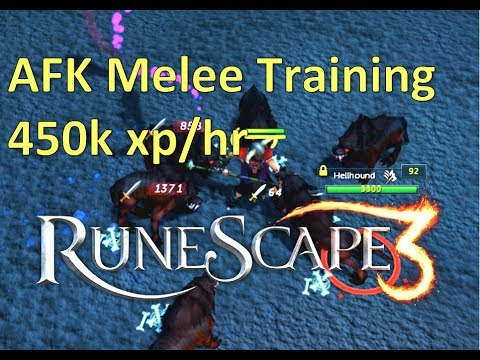 Easy AFK Melee Guide 450k XP/HR, Hell Hounds (Runescape 3)