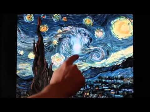 Van Gogh\u0027s Starry Night interactive animation SD VIDEO CLIL
