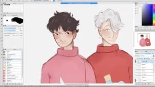 Victor and Yuuri - Yuri!!! on Ice - Speedpaint