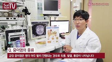 건강백과사전 -  중이염의 증상