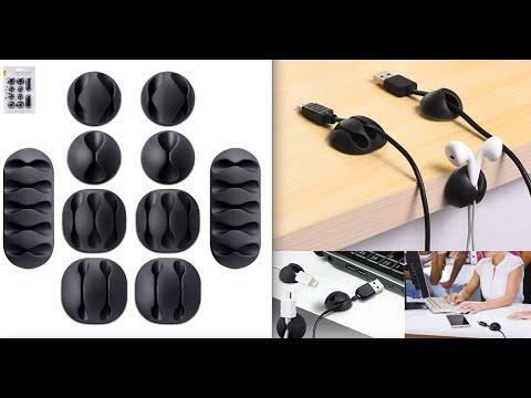 Multi Purpose Cable Protector Clip Set Black & White