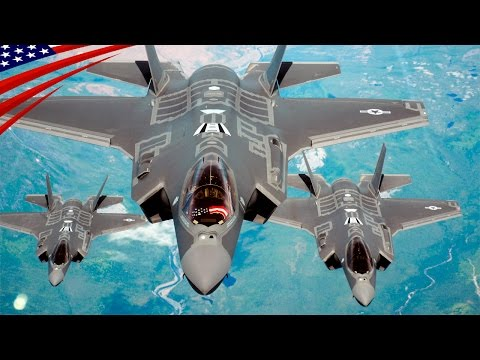Three F-35A Fighters Aerial Refueling (Uncut Video) - F-35A戦闘機の3機連続空中給油 (ノーカット映像)