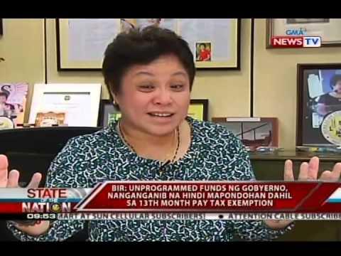 SONA: BIR, tutol sa pagtataas ng income bracket sa 13th month pay tax exemption