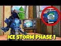 New Snow Storm *WEATHER WARNING* on TV in Fortnite