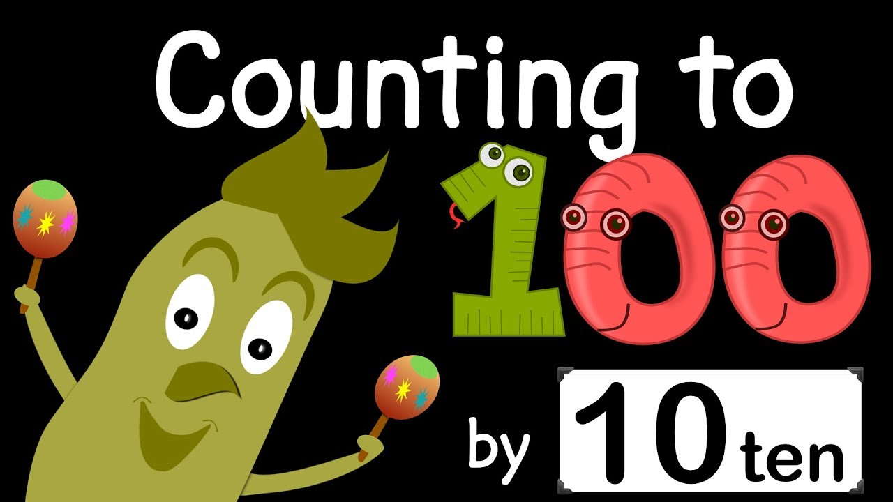 Counting to 100 by 10 | Counting Song | Green Bean's Music