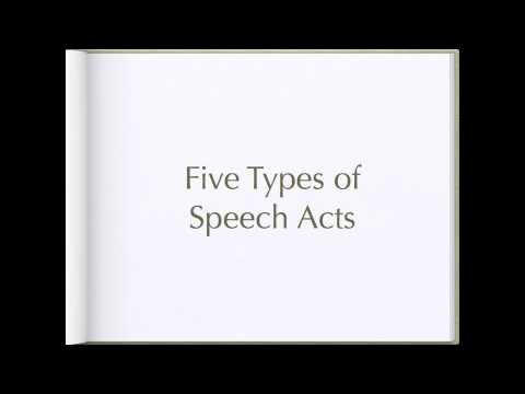 Searles Theory of Speech Acts