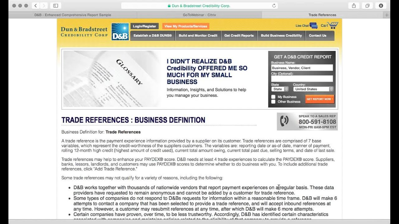 trade references for new business