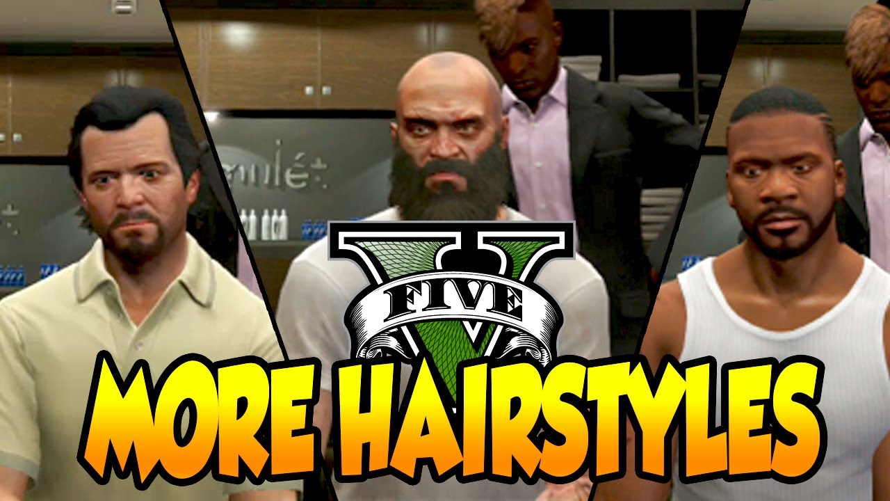 Gta  More Character Hairstyles Michael Trevor Franklin Gta V Hair Styles Youtube