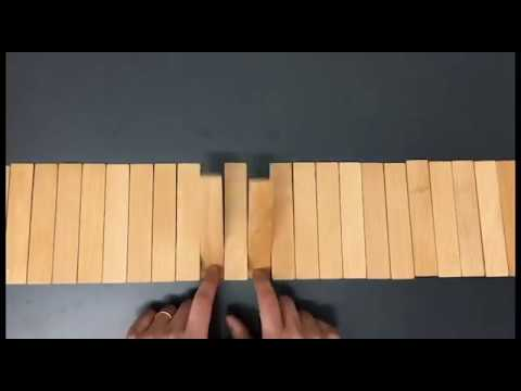 Chopsticks played on a Switchboard Coat Rack