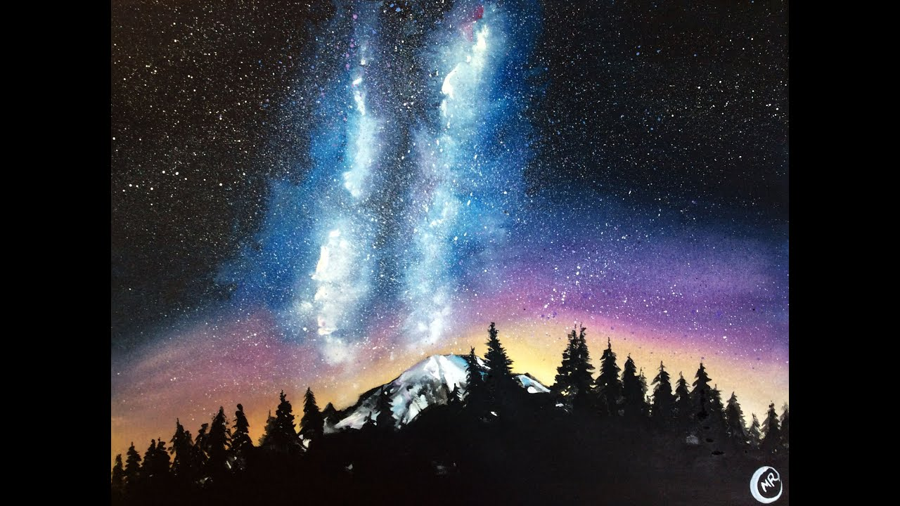 PROLIFIC ART Daily Challenge #4 Milky Way Galaxy Over