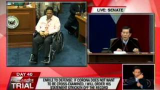Enrile: I will not allow any abuse of authority against this court