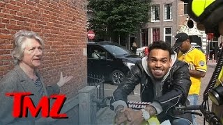 Chris Brown -- Can't Contain Himself as a Local Woman Rats Him Out | TMZ