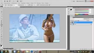 Как наложить фото на фото HD(Очень простой и лёгкий способ для новичков фотошопа научиться накладывать одно фото на другое( без замороч..., 2013-09-24T12:43:52.000Z)