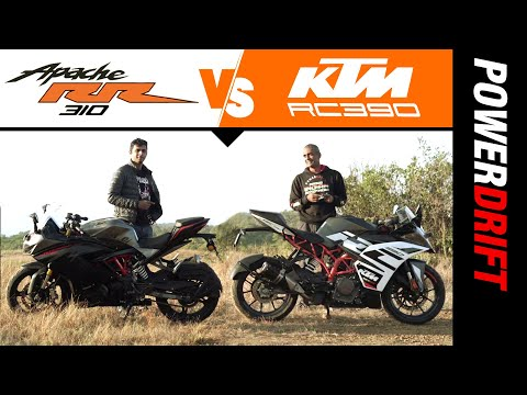 Giveaway Alert   TVS Apache RR 310 BS6 vs KTM RC 390   Affordable Sportsbikes Compared   PowerDrift
