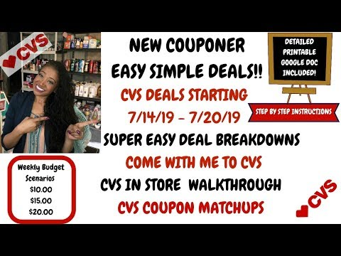 NEW COUPONER VERY EASY CVS DEALS STARTING 7/14/19~COUPON MATCHUPS DEAL BREAKDOWNS~COME WITH ME 😍