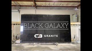 Slab cutting - Black Galaxy