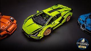LEGO Technic 42115 Lamborghini Sián detailed building review